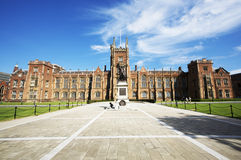 Main Building Queen's University Belfast Stock Images