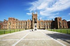 Main Building Queen's University Belfast stock images