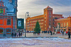 Main building of Riga Technical University Royalty Free Stock Photography