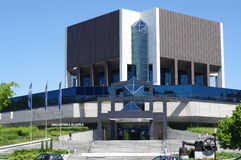 The main building of the Silesian Library in Katowice Royalty Free Stock Images