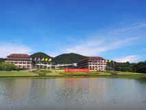Main building of Thai university. Main building at entrance of Thai university, Chiangrai, Thailand Royalty Free Stock Photos