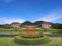 Main building of Thai university. Main building at entrance of Thai university, Chiangrai, Thailand Stock Image