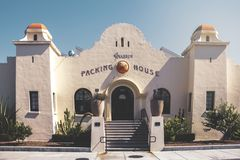 Main Building to Anaheim Packing House royalty free stock photo