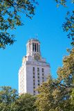 Main Building Tower at the University of Texas. Landmark Main Building Tower at the University of Texas. Located at the Center of the UT Campus Stock Photo