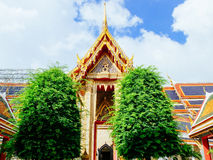 Main building with trees at Wat Ratchabopit Stock Photos
