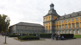 Main building of university of Bonn stock video footage