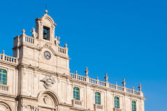 The main building of the University of Catania. Detail of the main building of the University of Catania, built at the beginning of XVIII century Royalty Free Stock Photos
