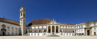 The main building of the University of Coimbra Royalty Free Stock Photos
