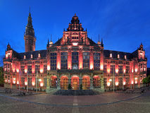 Main building of the University of Groningen at evening, Netherl Royalty Free Stock Photo