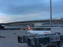 Main Building of Zurich Airport ZRH Stock Photos
