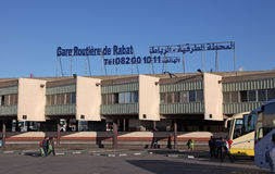 Main bus station of Rabat, Morocco Stock Image