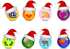 Main business Christmas icons Stock Photography
