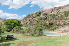 Main camp swimming pool in the Mountain Zebra National Park Stock Images