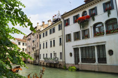 Main canal Cagnan in Treviso. Cagnan - canal that passes right through the Fish Market Royalty Free Stock Photos