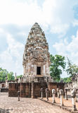 Main castle of historic site in Thailand Royalty Free Stock Photos