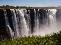 Main Cataract of Victoria Falls. (from Zimbabwean side Stock Photo