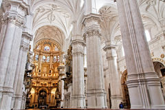 Main cathedral altar in Granada, Spain Stock Photo