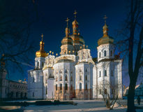 Main cathedral church of the Kiev-Pechersk Lavra Stock Photo