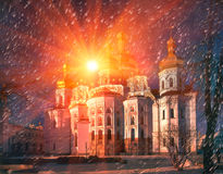 Main cathedral church of the Kiev-Pechersk Lavra Royalty Free Stock Image