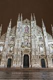 Main cathedral facade in Milan Royalty Free Stock Image