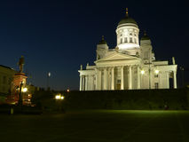 Main cathedral of Helsinki. Finland in night royalty free stock photo