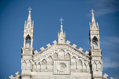 Main Cathedral in Monza Italy. Top of Duomo in Monza, Italy Stock Photo