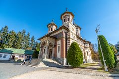 The main cathedral of the Sinai Monastery in Romania stock images