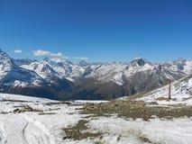 The main Caucasian ridge. Dombay. Royalty Free Stock Photo