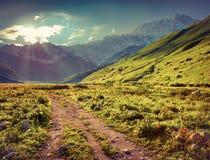 The main Caucasian ridge, Shkhara mountain. Royalty Free Stock Photos