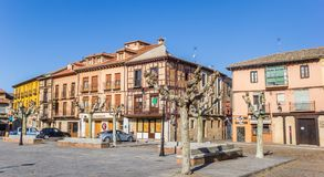 Main central square in historic city Toro. Spain royalty free stock photography