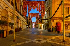 Valletta. Street of the Republic. Royalty Free Stock Photo