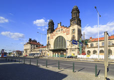 Main Central train station in Prague. Royalty Free Stock Photography