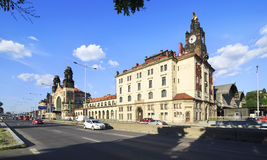Main Central train station of Prague. Stock Photo