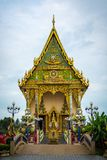 Main chapel in the buddhist temple  Wat Plai Laem  in Koh Samu Royalty Free Stock Images