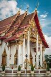 Main chapel at chalong temple, phuket, thailand Royalty Free Stock Images