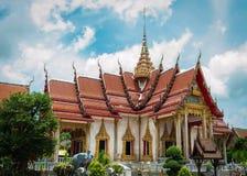 Main chapel at chalong temple, phuket, thailand Stock Photos