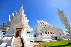 Main chapel and pavilion of Wat Rong Khun temple Stock Image