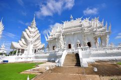 Main chapel of Wat Rong Khun temple Royalty Free Stock Photo