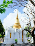 Main chedi with European style of royal cemetry at Wat Ratchabopit Stock Image