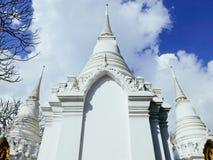 Main chedis of Royal cemetry at Wat Ratchabopit Royalty Free Stock Photo