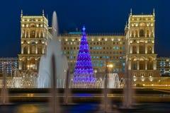 Main Christmas tree Baku stock images