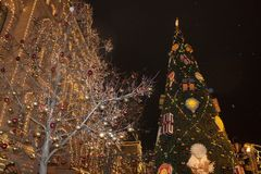The main Christmas tree in Moscow Russia Royalty Free Stock Photography