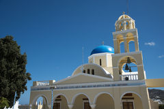 Main Church in Ia, Santorini, Greece.  Stock Photography