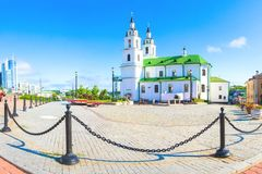 Main church in Minsk, Belarus royalty free stock images