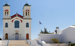 Main church of naoussa on the paros island Greece Royalty Free Stock Photography