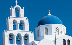 Main church in Pyrgos, Santorin Royalty Free Stock Images