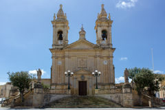 Main church of Sannat in Gozo, Malta Stock Photos