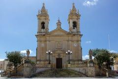 Main church of Sannat in Gozo, Malta Stock Photos