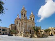 Main church of Sannat in Gozo, Malta Stock Photography