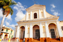The main church of the UNESCO World Heritage old town of Trinidad / Cuba Stock Photos